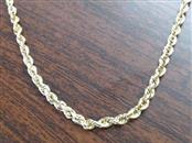 "16"" Gold Rope Chain 14K Yellow Gold 4.1g"